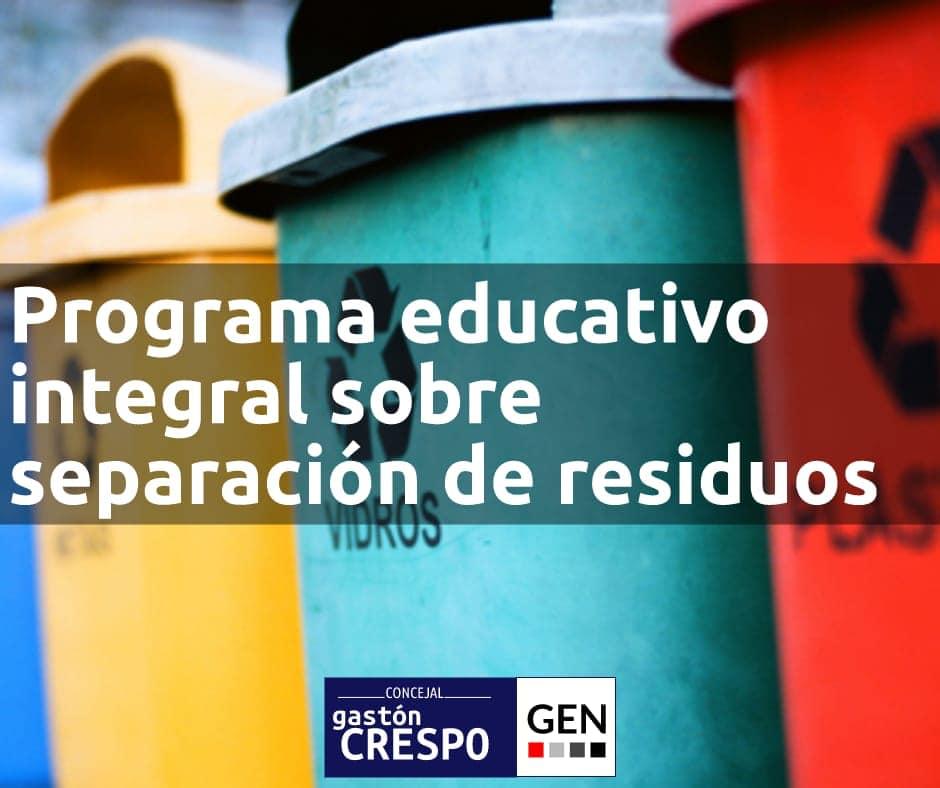 Programa educativo integral sobre separación de residuos